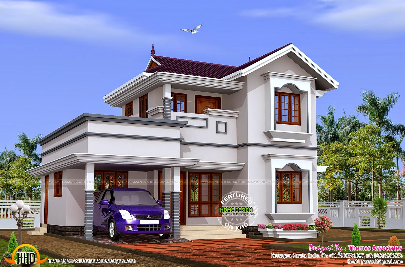 Budget double storied house with estimate kerala home design and floor plans Home design and estimate