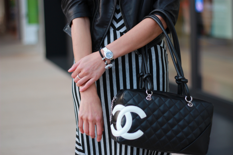 chanel cambon black white bowler
