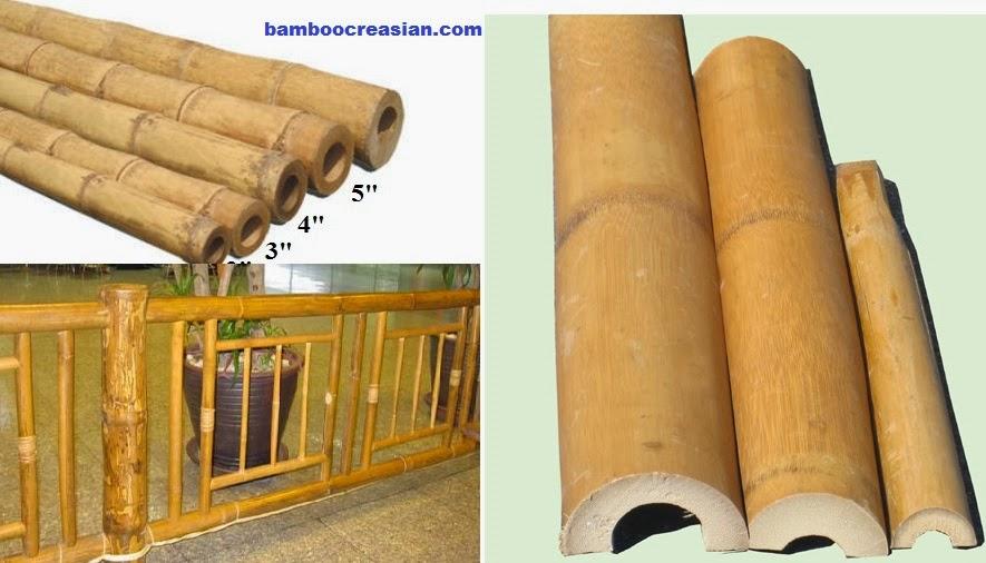 Dia bamboo poles ft real hard solid max thick wall