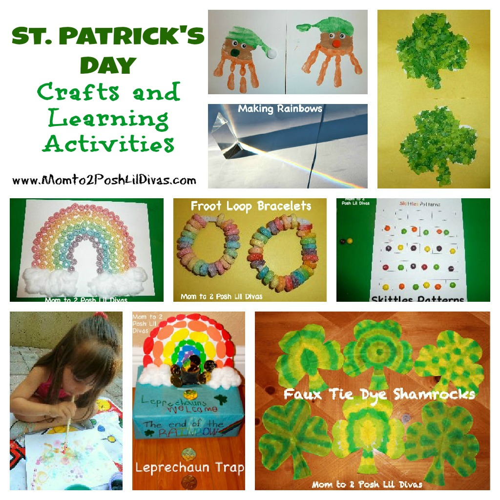 St patricks day preschool crafts -  Types Of Activities At School After All Learning Doesn T Stop With The School Day But It Can Be Informal Playful And Fun Faux Tie Dye Shamrocks