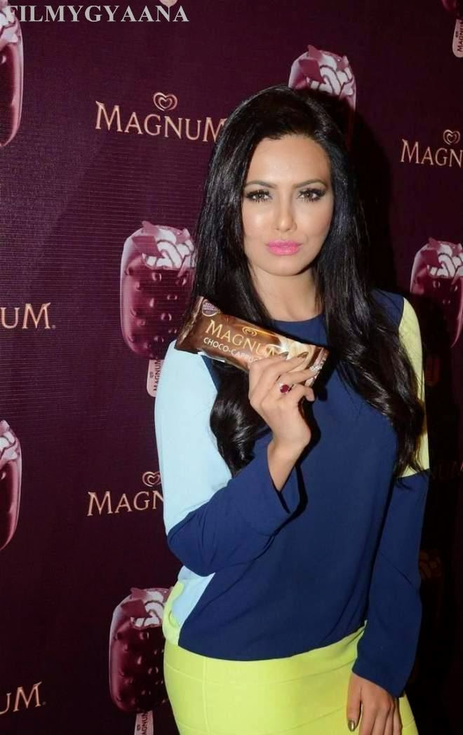 Sana Khan Hot Photos At New Magnum Ice Cream Launch
