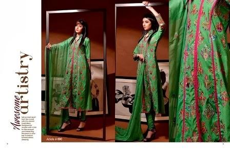 ... Winter Embroidery Dresses   Taana Baana Winter Collection 2013-14