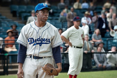 Chadwick Boseman stars as Jackie Robinson in 42