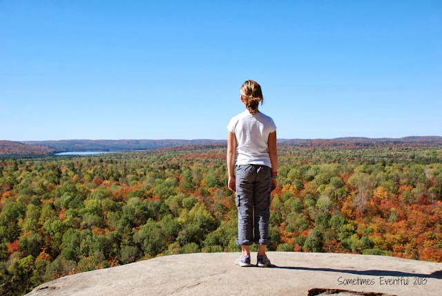 Fall hiking the Lookout Trail Algonquin Park