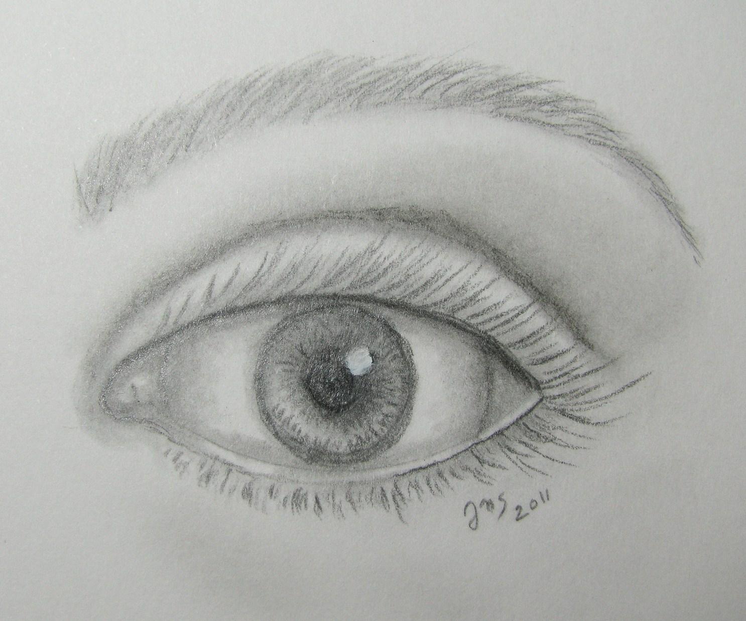 Simple Drawing Of An Eye Jills Artstuff A Female