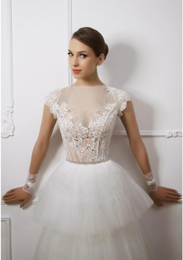 abito da sposa corpino in tulle