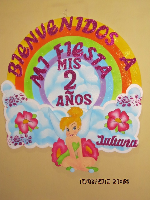 Carteles de cumpleaños de campanita - Imagui