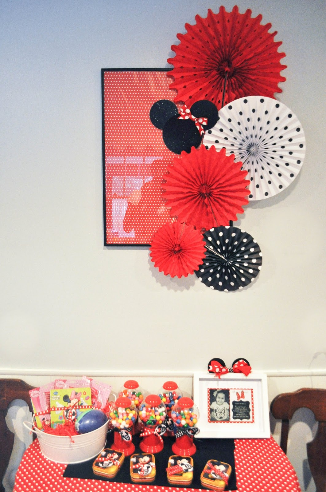 Modern minnie mouse party decor favors pretty real see the backdrop amipublicfo Choice Image
