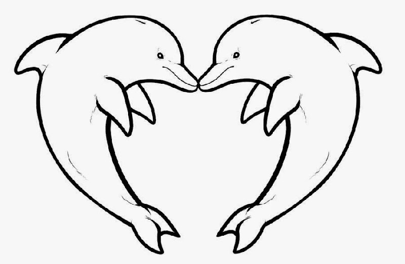 love dolphin coloring pages - photo#6