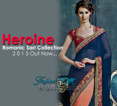 Heroine Romantic Saree Collection 2015