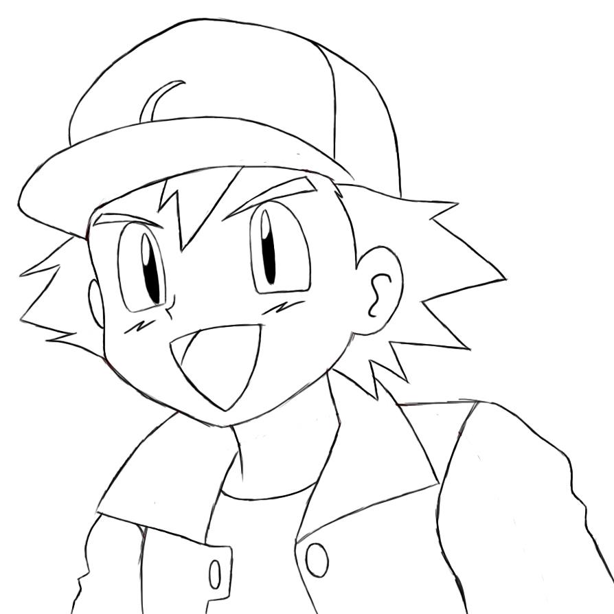 Ash Pokemon Drawing How To Draw Ketchum