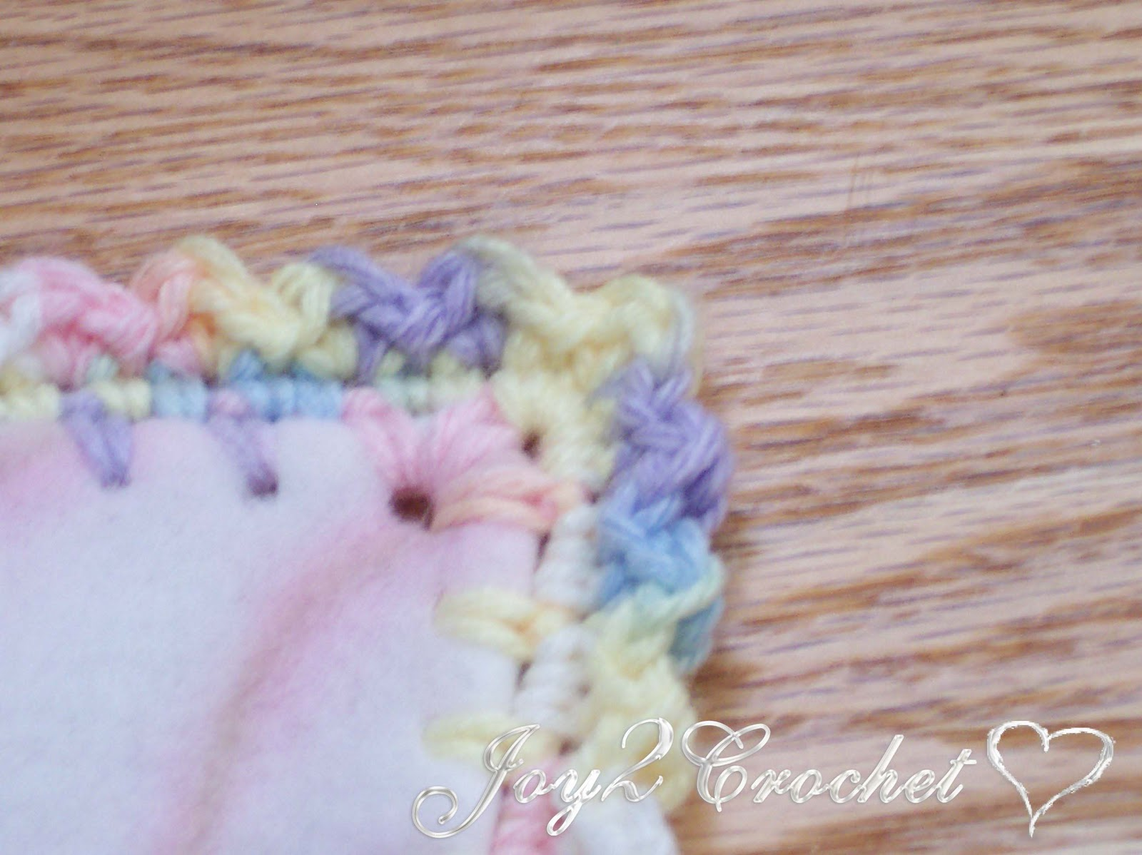 Crocheting Edges On Baby Blankets : Joy 2 Crochet: Fleece Baby Blankets with Crocheted Edge