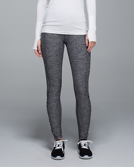 lululemon heathered black turn around tights