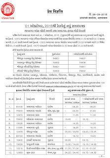 1/10/15 THI AMEDABAD RAILWAY NEW TIME TABLE