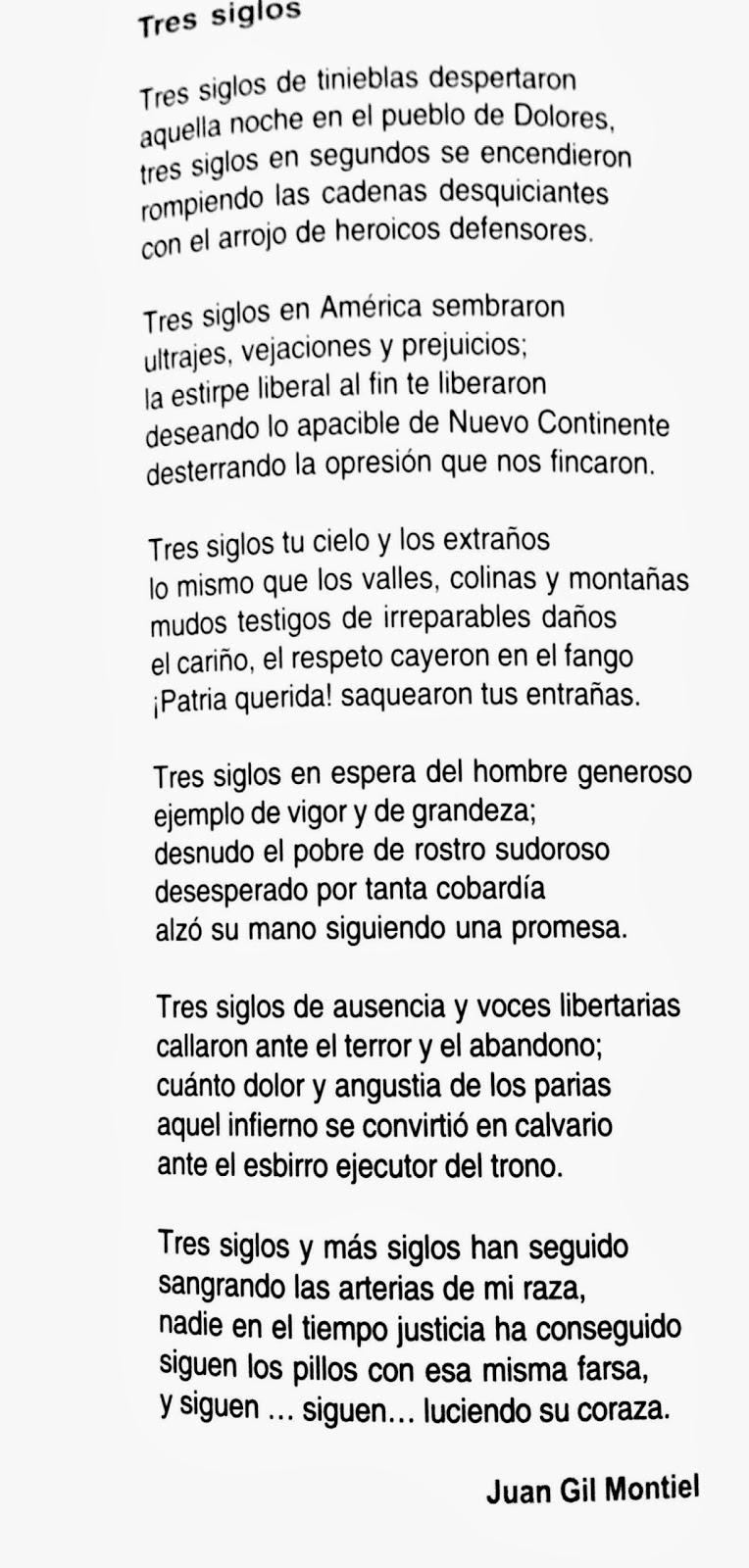 Poesía de la independencia de México - Tres siglos