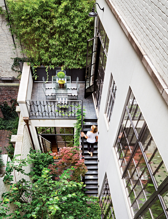 New York terrace. Photo by Scott Frances via NY Magazine