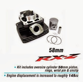Blok + Piston Bore Up RXZ Ukuran 58 mm Rp.Rp 1.250.000