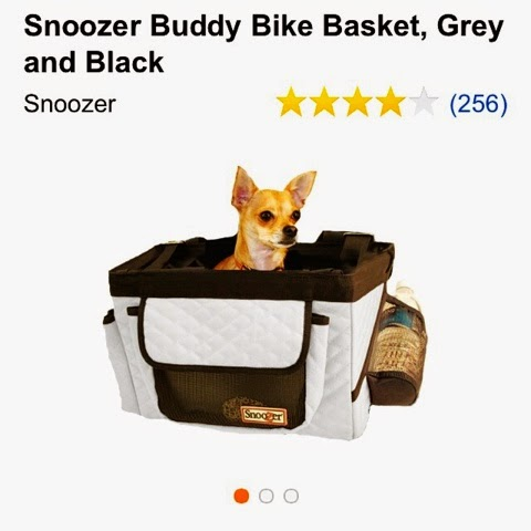 Snoozer Buddy Bike Basket for dogs