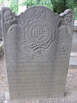 A decorated gravestone at Donnybrook Cemetery Dublin