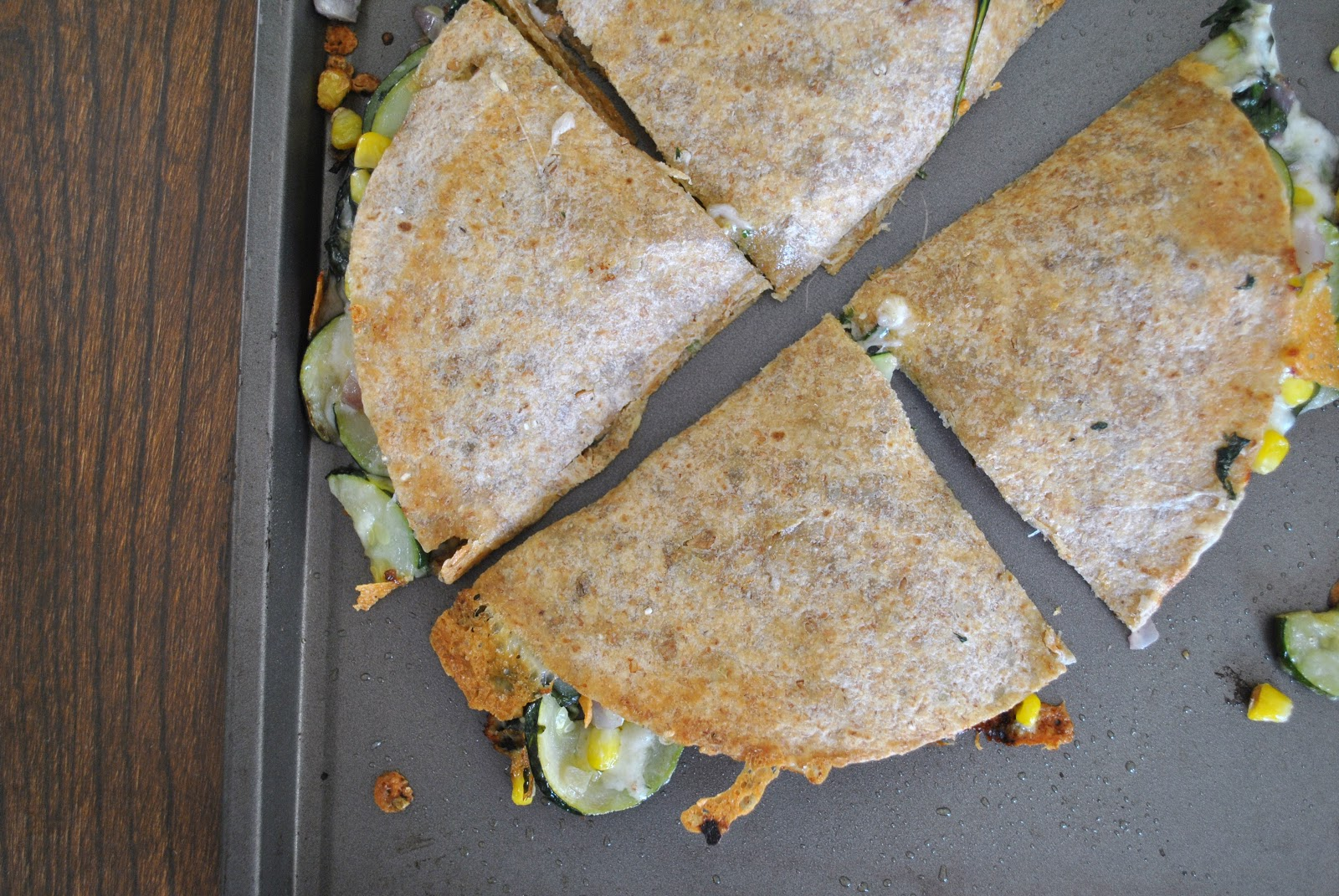 Kristin in Her Kitchen: Baked Zucchini Quesadillas + VICTORY
