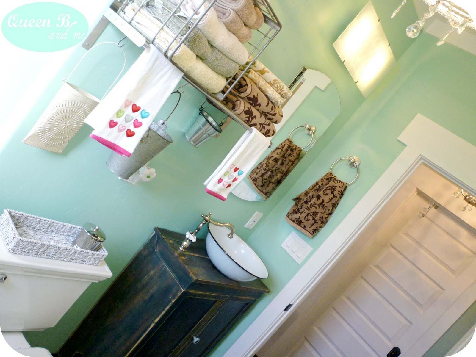 Queen b me small bathroom remodel on a budget for Martha stewart glass paint colors