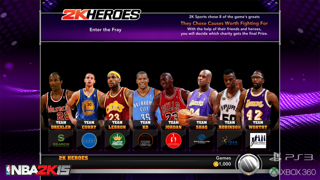 NBA 2K15  2K Heroes Mode