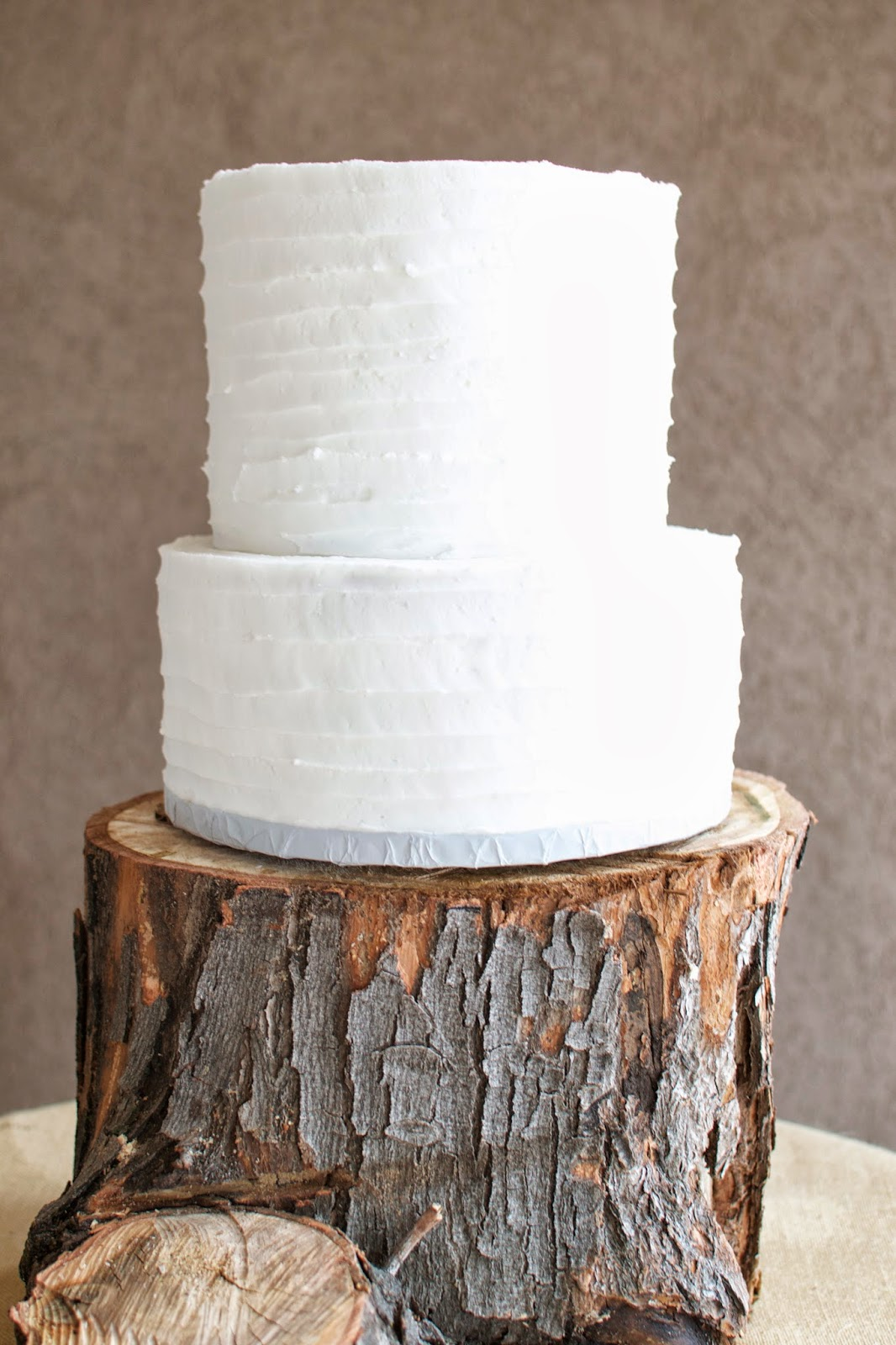 THE MIGHTY BAKER Simple White Wedding Cake