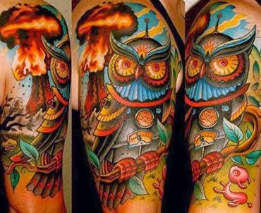 Melhores tatuagens de coruja no braço