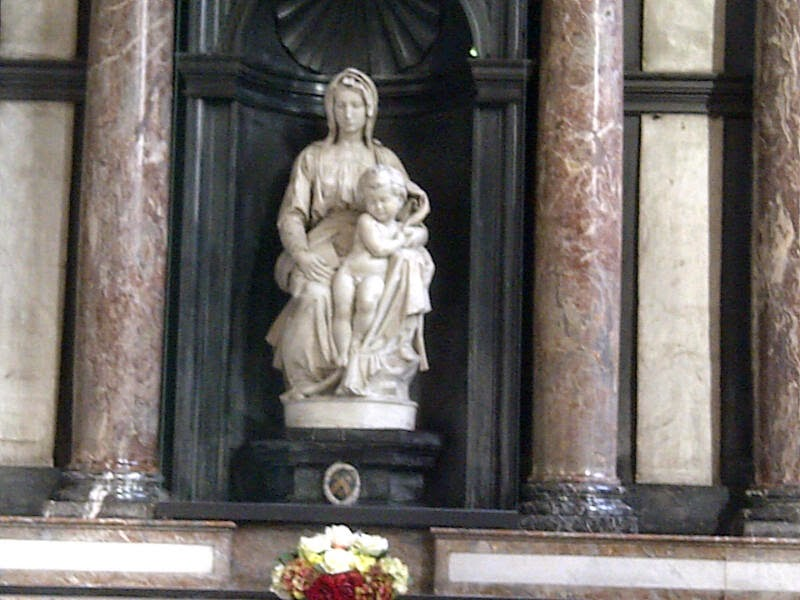 Michelangelo's Madonna & Child sculpture