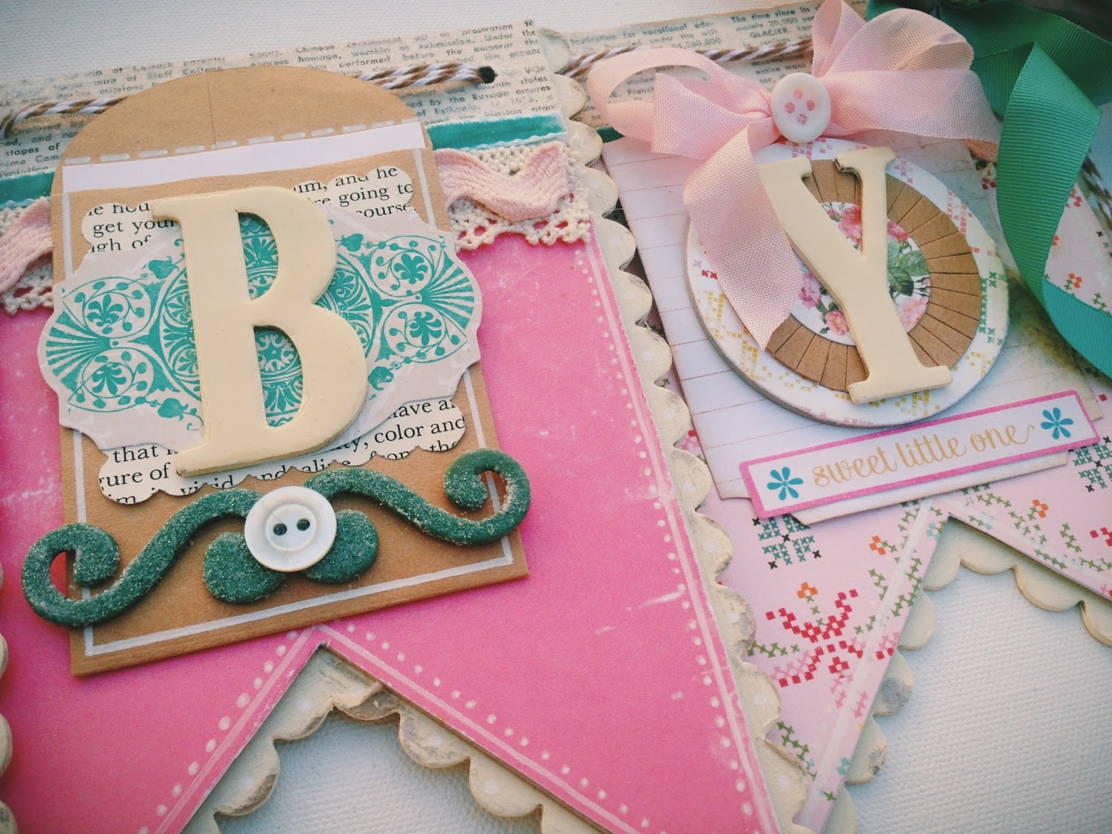 BrownPaperPackaging: Shabby Baby Shower Banner Decoration