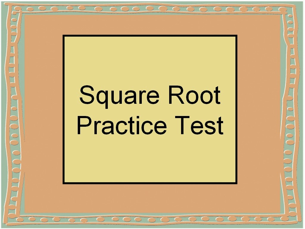 Student Survive 2 Thrive: Square Root Math Practice Test