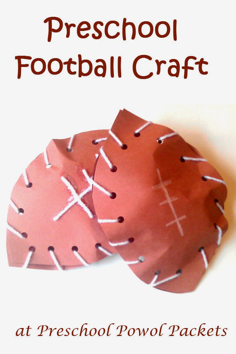 football preschool craft preschool powol packets