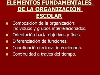 Elementos de la OE