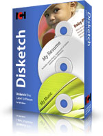 CD DVD Label software Disketch