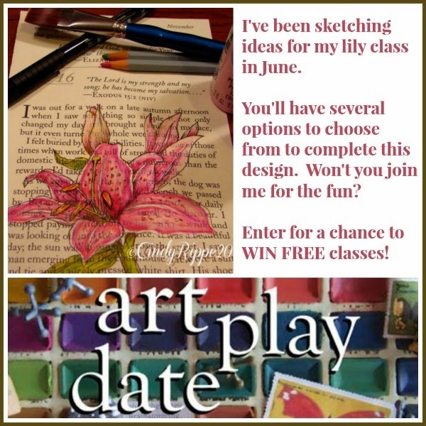 Enter for a chance to win FREE classes in ART PLAY DATE - Cindy Rippe 2014
