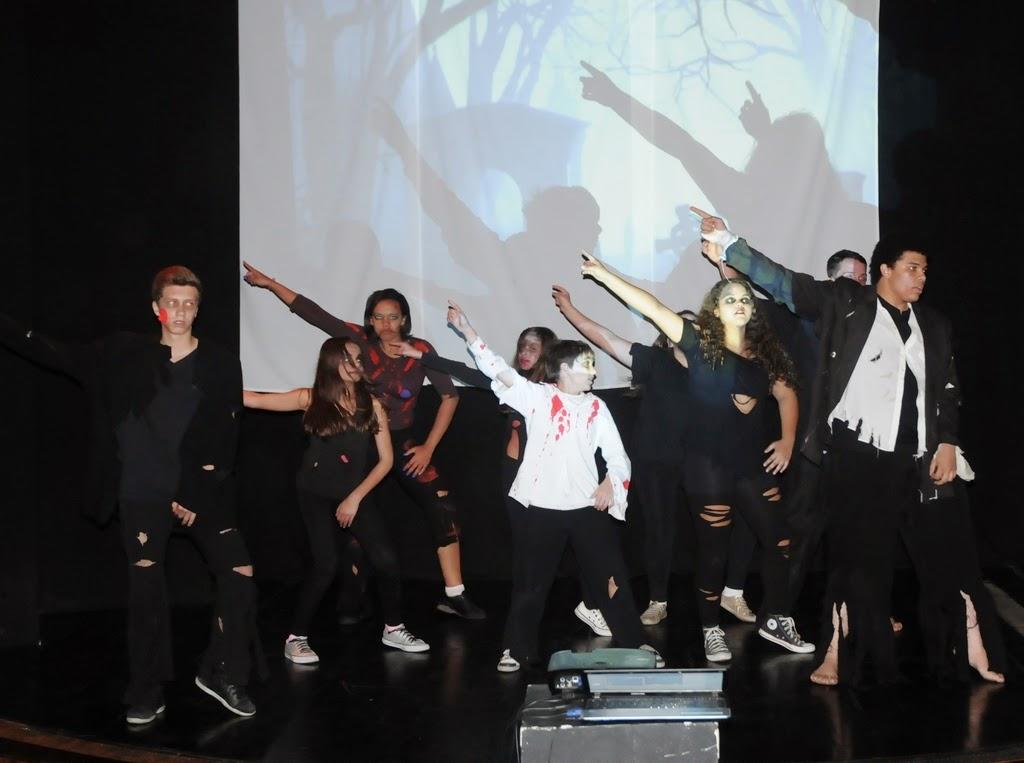 A coreografia do hit Thriller foi um dos pontos altos do evento