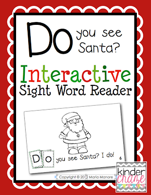 "Santa-themed emergent reader for sight word ""do"""