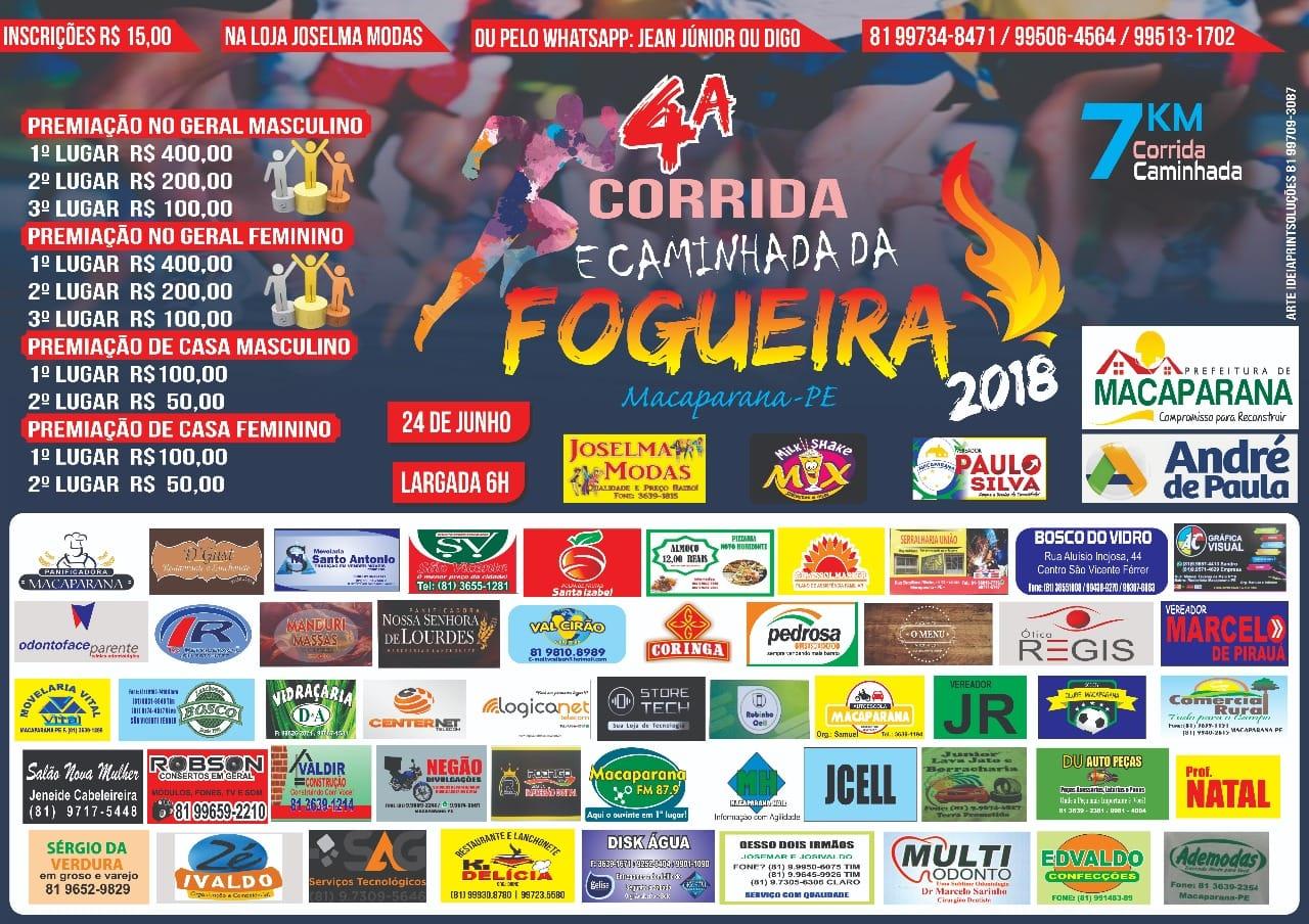 4º CORRIDA DA FOGUEIRA