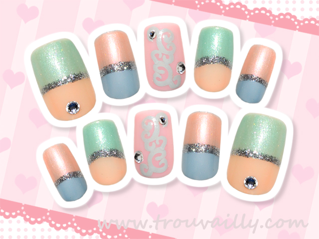 Trouvailly: Japanese Inspired Spring Nail Art Tutorial