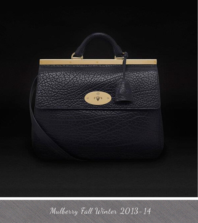 Mulberry Black leather Suffolk bag from Fall Winter 2013 2014