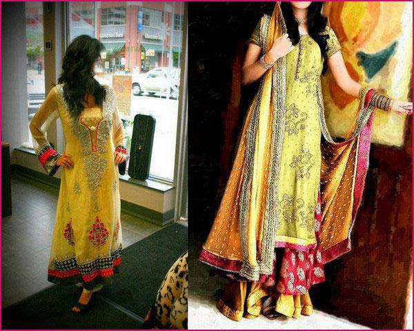 Mehndi Party What To Wear : New and beautiful mehndi dress for bride party wear full
