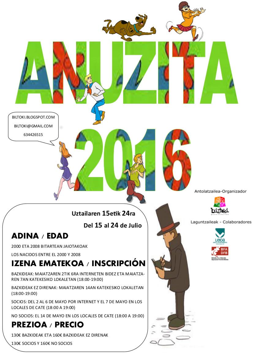 Anuzita Udalekua 2016