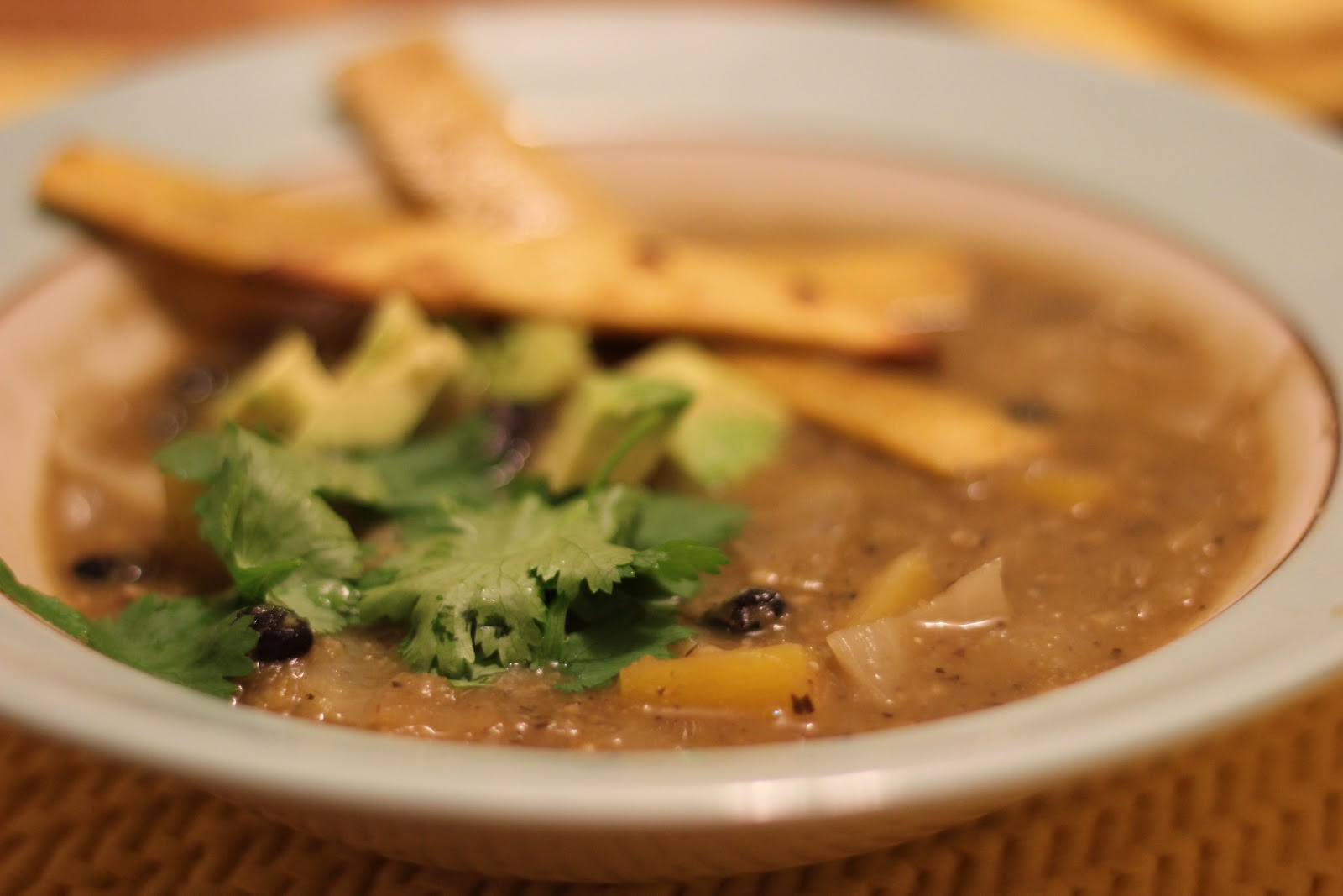 Necessary Pleasures: Black Bean & Butternut Squash Soup