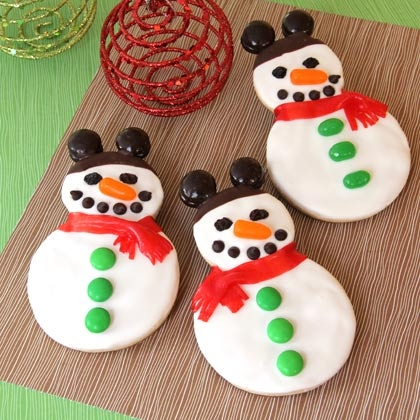 Disney Cheer this Holiday Season! Mickey Snowmen Recipe