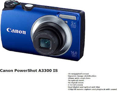 Canon PowerShot A3300 IS digital camera