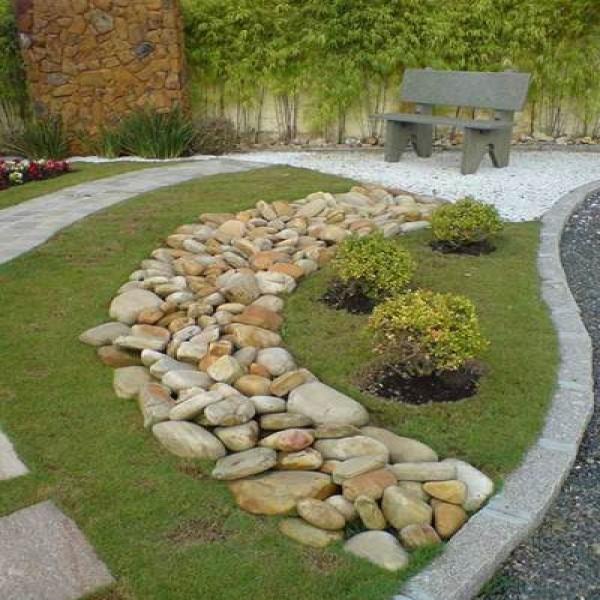 Decoração Ideias para Decorar o seu JARDIM com pedras