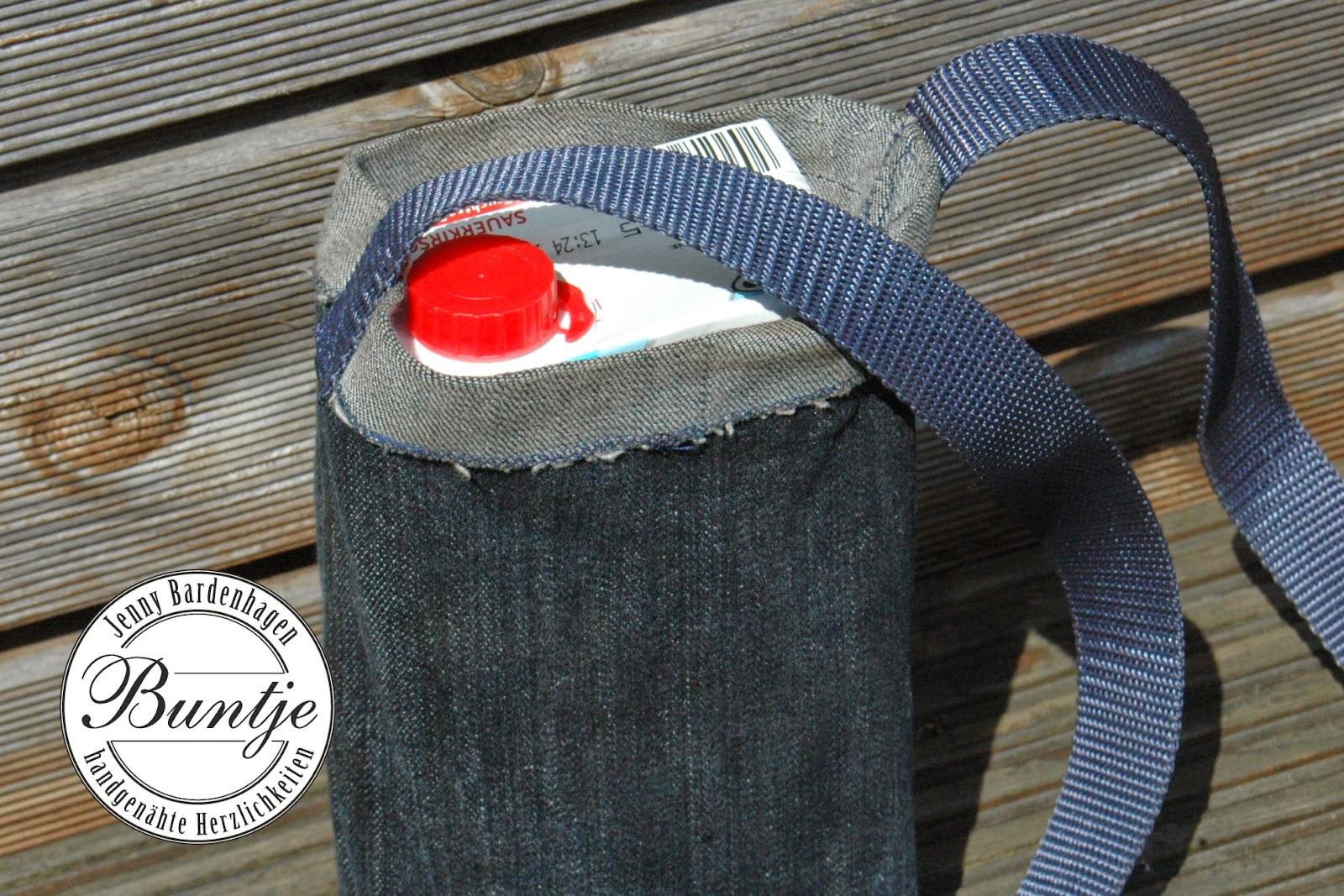 Festivaltasche Tasche Festival Hurricane Scheeßel Tetrapack Tetra-Pak Getränk Jeans stabil nähen Buntje Mann Geschenk