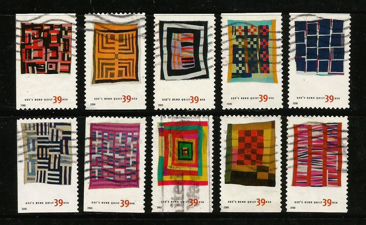 Rachel Markwick Gees Bend Quilts On Stamps Of Usa