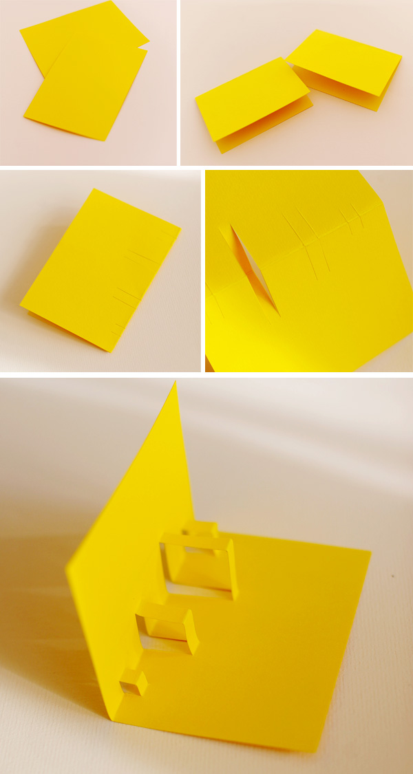 Как сделать открытку на день рождения своими руками из белой бумаги видео