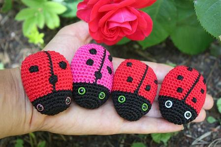 HAPPYAMIGURUMI: Amigurumi ladybug!
